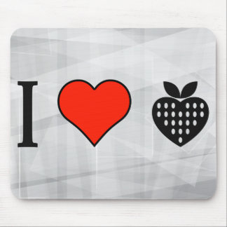 I Love Eating Strawberries Mouse Pad