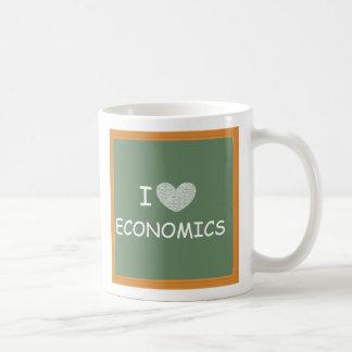 I Love Economics Basic White Mug