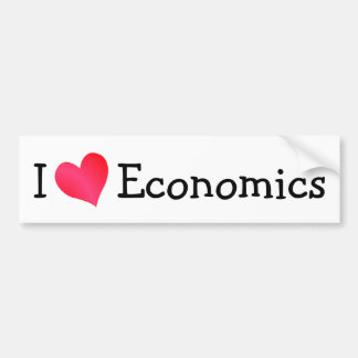 I Love Economics Bumper Sticker