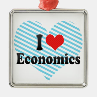 I Love Economics Christmas Ornament