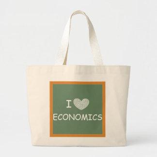 I Love Economics Jumbo Tote Bag