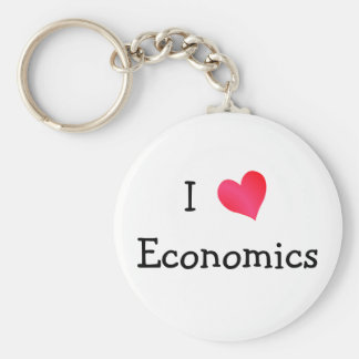 I Love Economics Key Ring