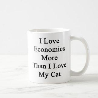 I Love Economics More Than I Love My Cat Basic White Mug