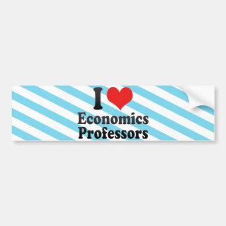 I Love Economics Professors Bumper Stickers