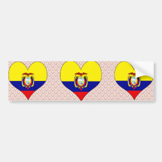 I Love Ecuador Bumper Sticker