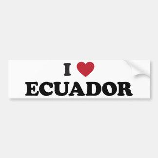 I Love Ecuador Bumper Sticker