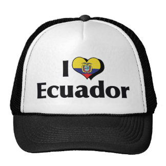 I Love Ecuador Flag Cap
