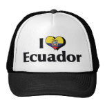 I Love Ecuador Flag Trucker Hat