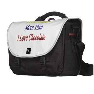 I Love Ecuador More Than I Love Chocolate Bag For Laptop