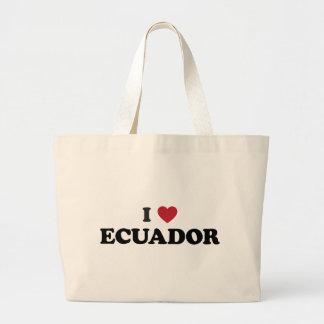 I Love Ecuador Jumbo Tote Bag