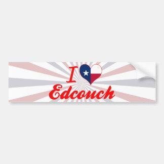 I Love Edcouch, Texas Car Bumper Sticker