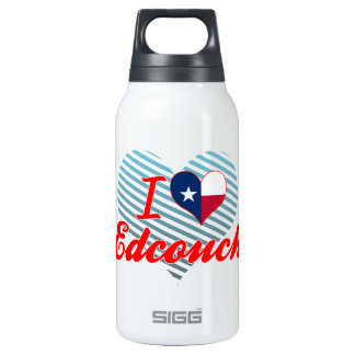 I Love Edcouch, Texas 10 Oz Insulated SIGG Thermos Water Bottle