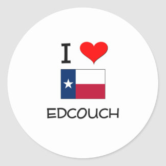 I Love Edcouch Texas Stickers