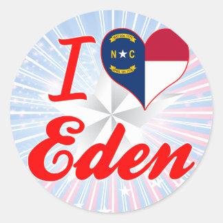 I Love Eden, North Carolina Round Stickers
