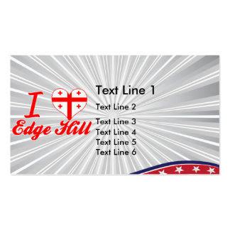 I Love Edge Hill, Georgia Business Card Template