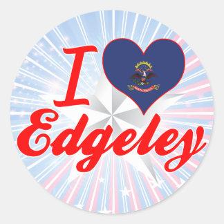 I Love Edgeley, North Dakota Stickers