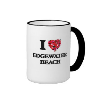 I love Edgewater Beach Florida Ringer Mug