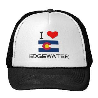 I Love EDGEWATER Colorado Mesh Hats