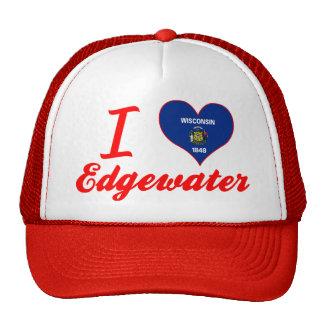 I Love Edgewater, Wisconsin Mesh Hat