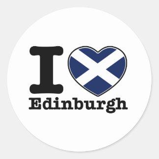 I love Edinburgh Classic Round Sticker