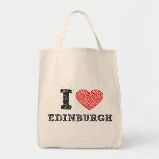 I-love-Edinburgh Grocery Tote Bag