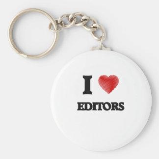 I love EDITORS Basic Round Button Key Ring