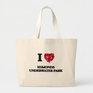 I love Edmonds Underwater Park Washington Jumbo Tote Bag