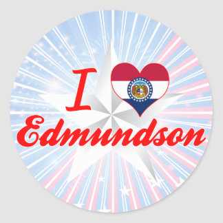I Love Edmundson, Missouri Round Stickers