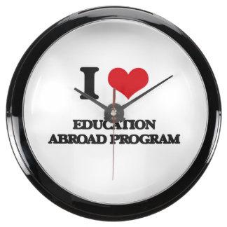 I Love Education Abroad Program Aquavista Clocks