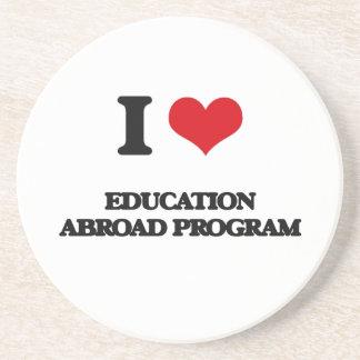 I Love Education Abroad Program Beverage Coasters