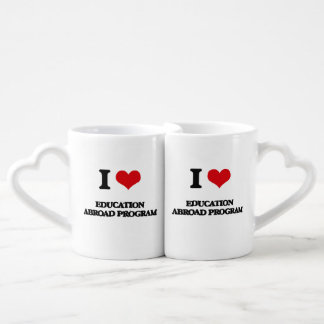 I Love Education Abroad Program Couples' Coffee Mug Set