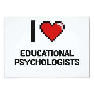 "I love Educational Psychologists 5"" X 7"" Invitation Card"