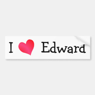 I Love Edward Bumper Sticker