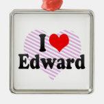 I love Edward Christmas Ornaments