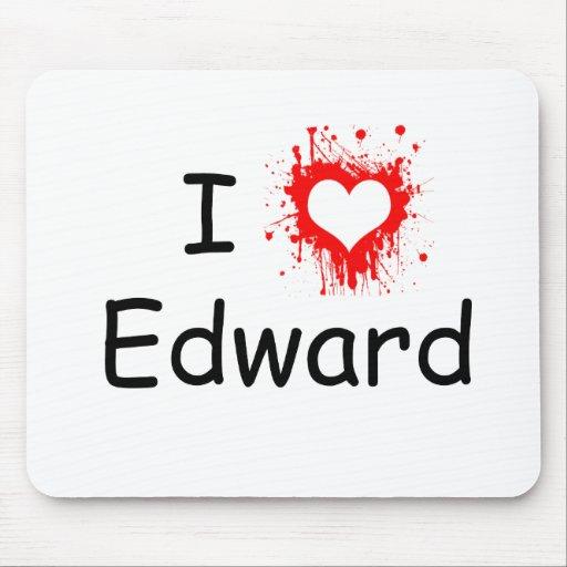 I Love Edward Mouse Pads