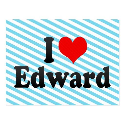 I love Edward Postcard