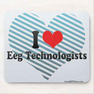 I Love Eeg Technologists Mousepads