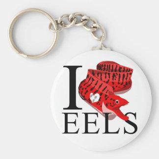 I Love Eels Keychains