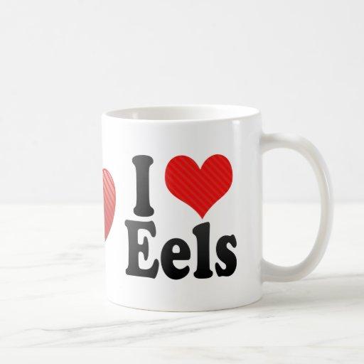 I Love Eels Coffee Mugs