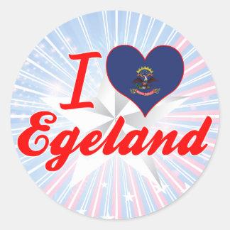 I Love Egeland, North Dakota Round Sticker