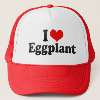 I Love Eggplant Trucker Hat