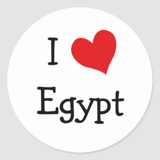I Love Egypt Classic Round Sticker