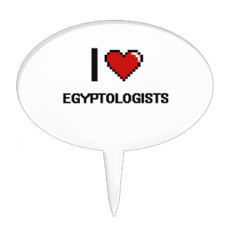 I love Egyptologists Cake Pick