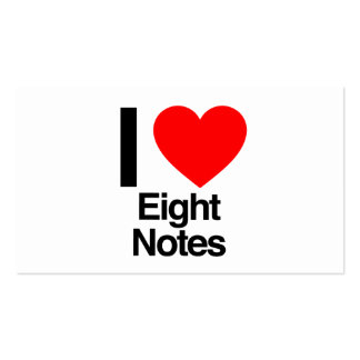 i love eight notes business card template