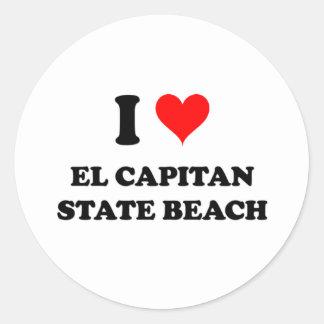 I Love El Capitan State Beach Round Sticker