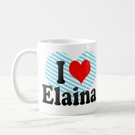 I love Elaina Classic White Coffee Mug