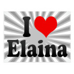 I love Elaina Postcard