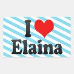 I love Elaina Rectangular Sticker