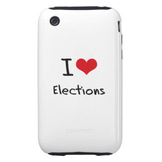 I love Elections Tough iPhone 3 Cover
