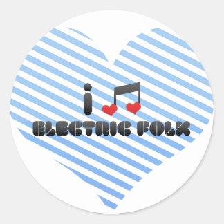 I Love Electric Folk Sticker